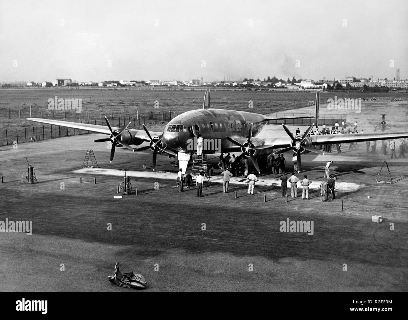 four-engined aircraft bz308, 1948 - Stock Image