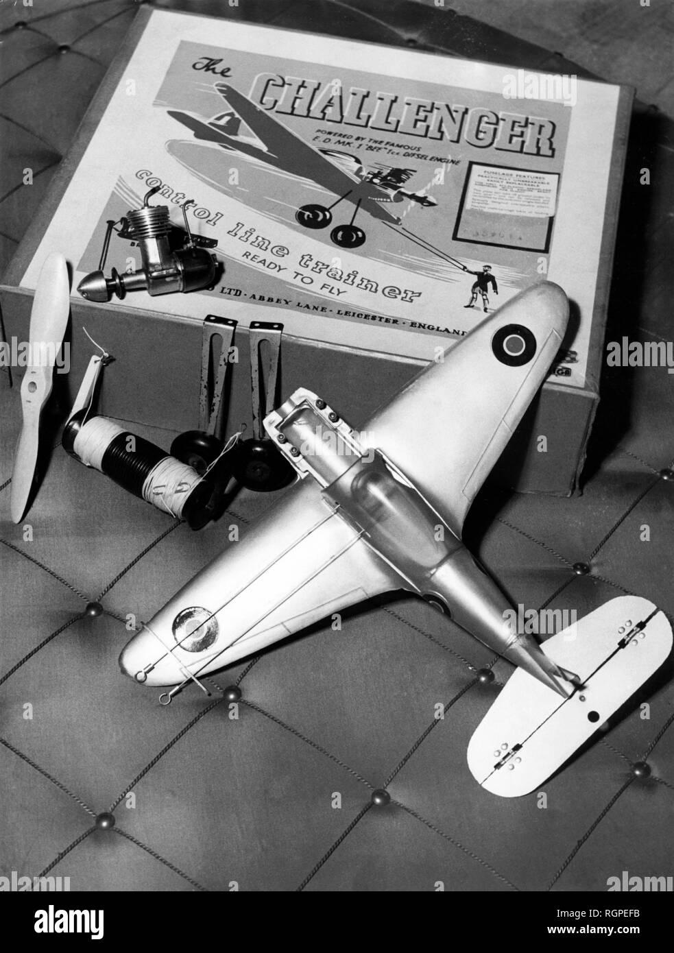 toys, radio-controlled airplane, 1952 - Stock Image
