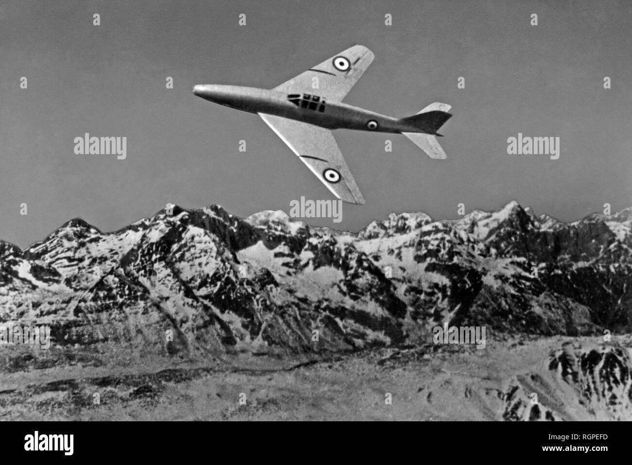warplane ambrosini sagittario, 1953 - Stock Image