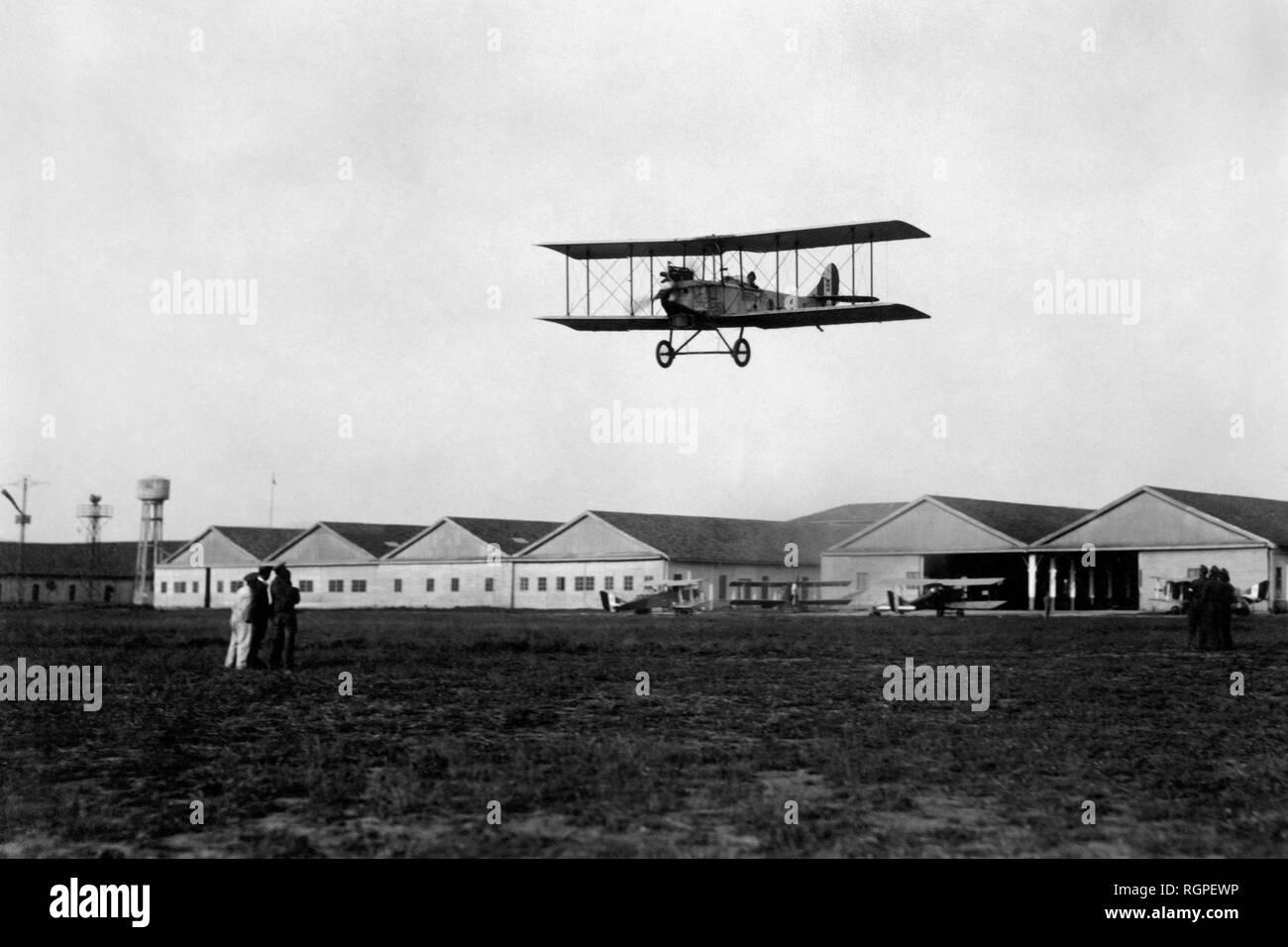 oreste salomone airport, capua 1928 - Stock Image