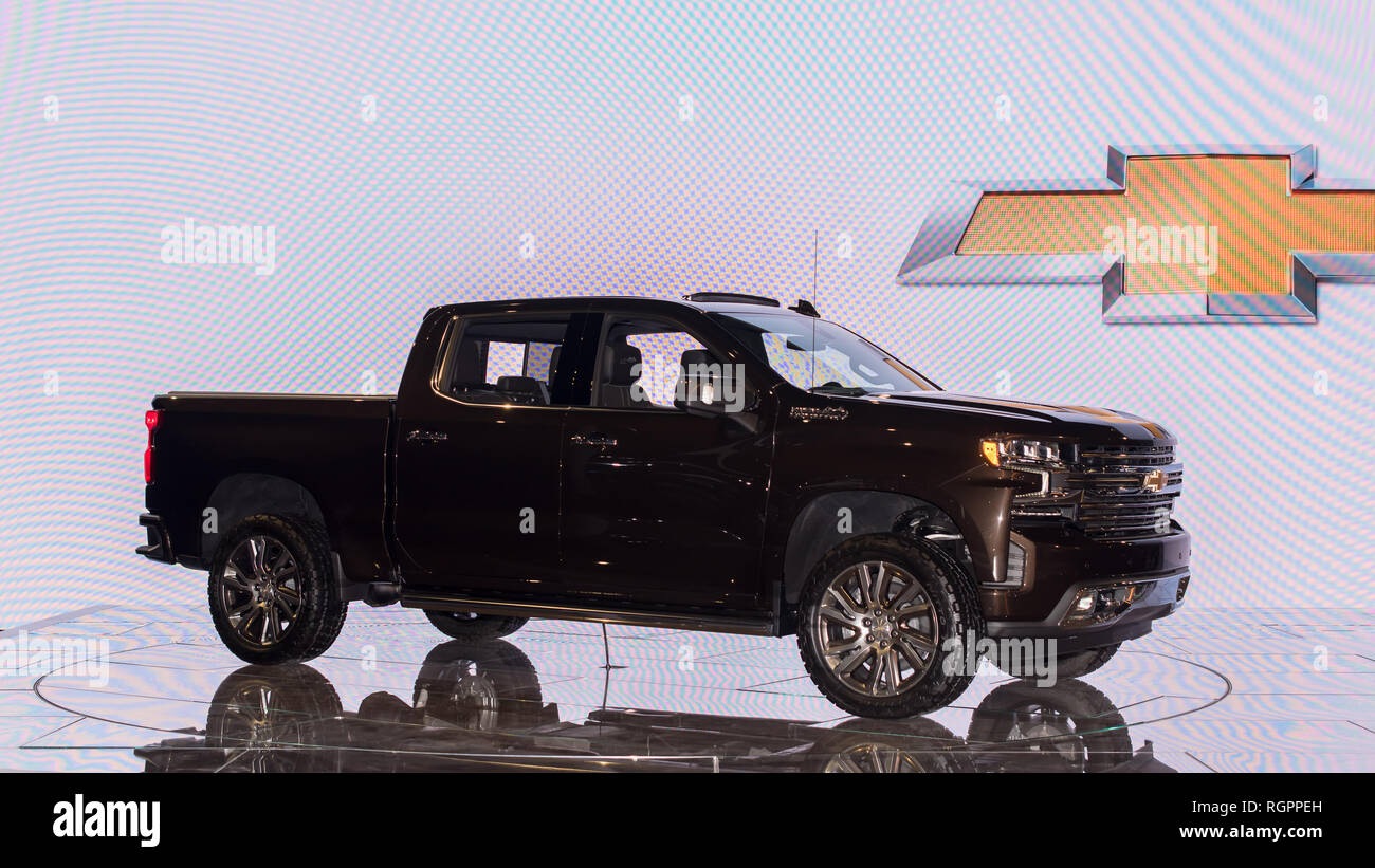 Detroit Mi Usa January 14 2019 2020 Chevy Silverado Ltz High
