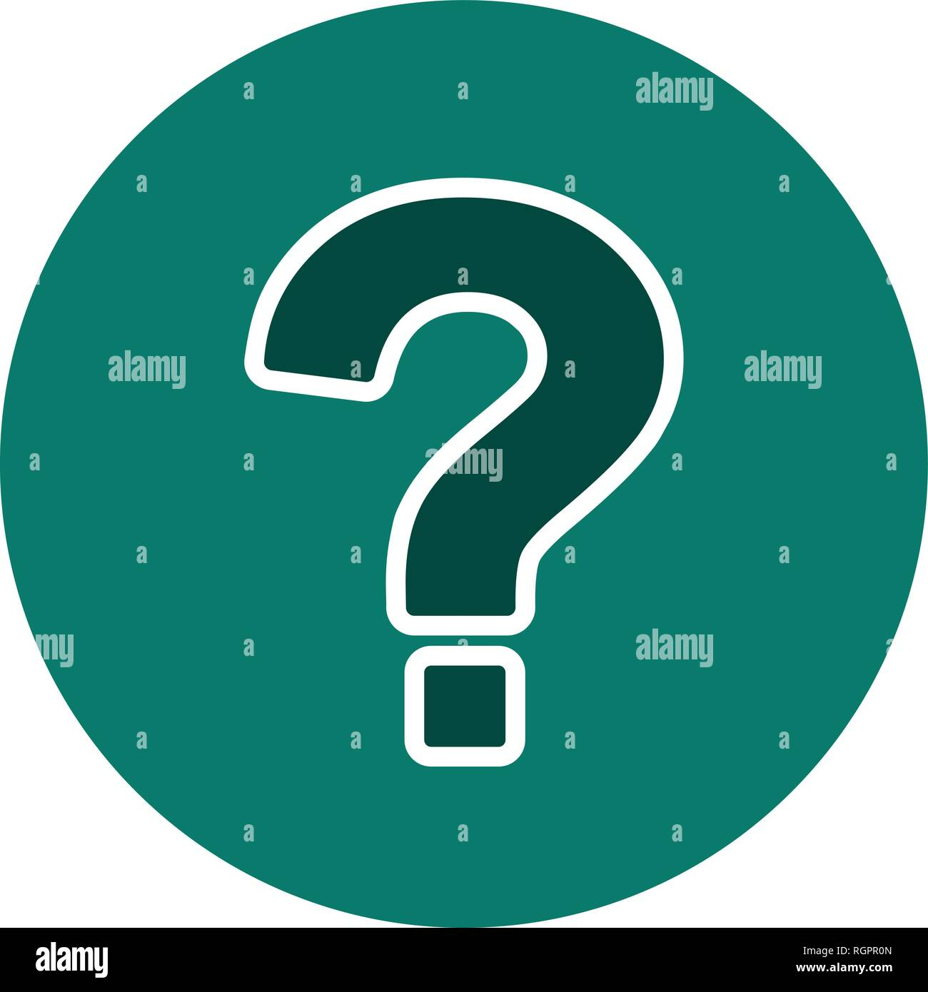 Question Mark Vector Icon Sign Icon Vector Illustration For Personal And Commercial Use... Clean Look Trendy Icon... - Stock Vector