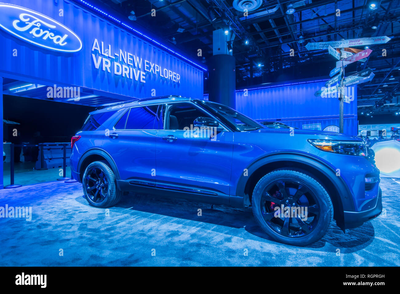 North American International Auto Show 2020.Detroit Mi Usa January 15 2019 A 2020 Ford Explorer Suv