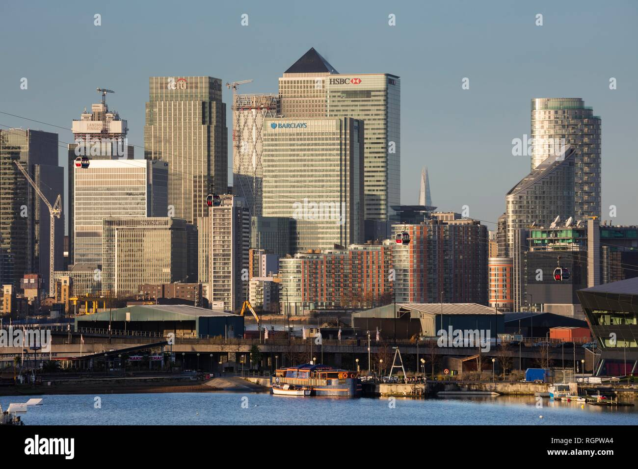 Canary Wharf, Financial Centre, Docklands, London, England, United Kingdom - Stock Image