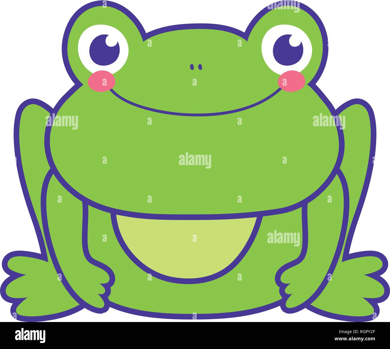 cute toad character icon - Stock Image