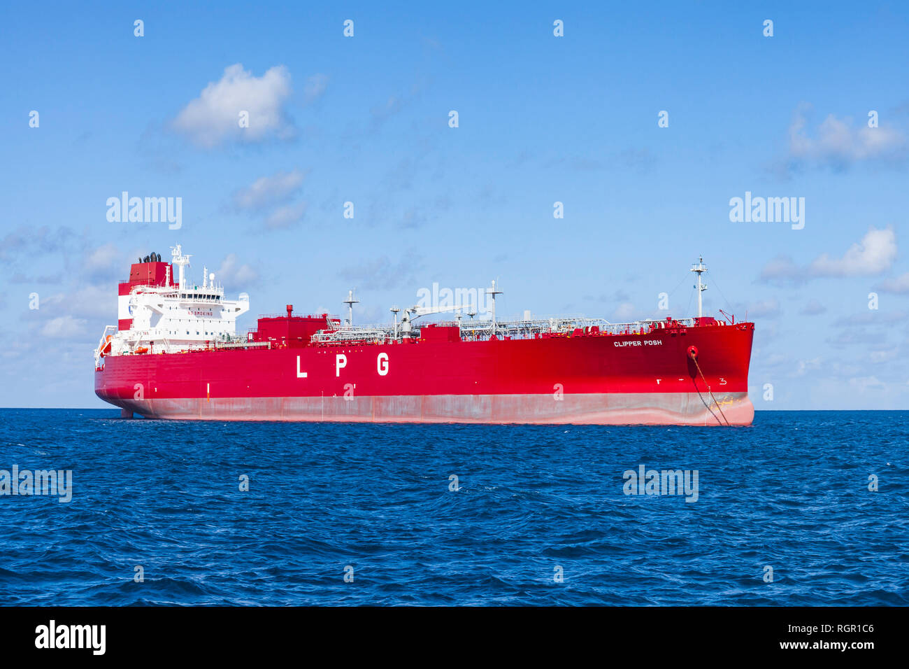 LPG tanker ship, Clipper Posh, Caribbean seas. - Stock Image