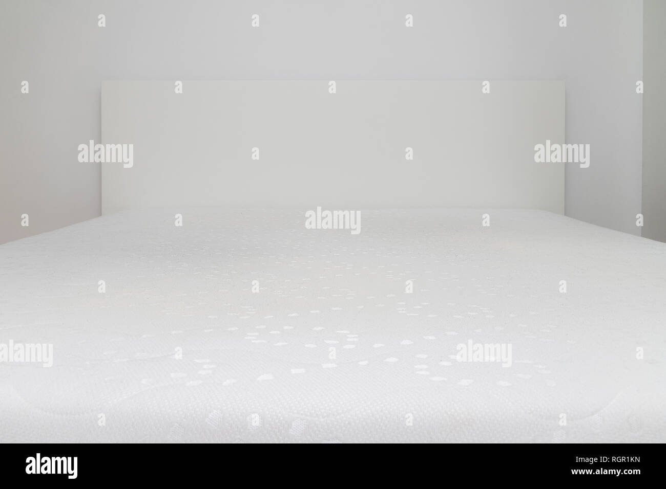Close Up Of Memory Foam Mattress On The Bed Frame At Sleeping Room Comfort Choosing Mattress Stock Photo Alamy
