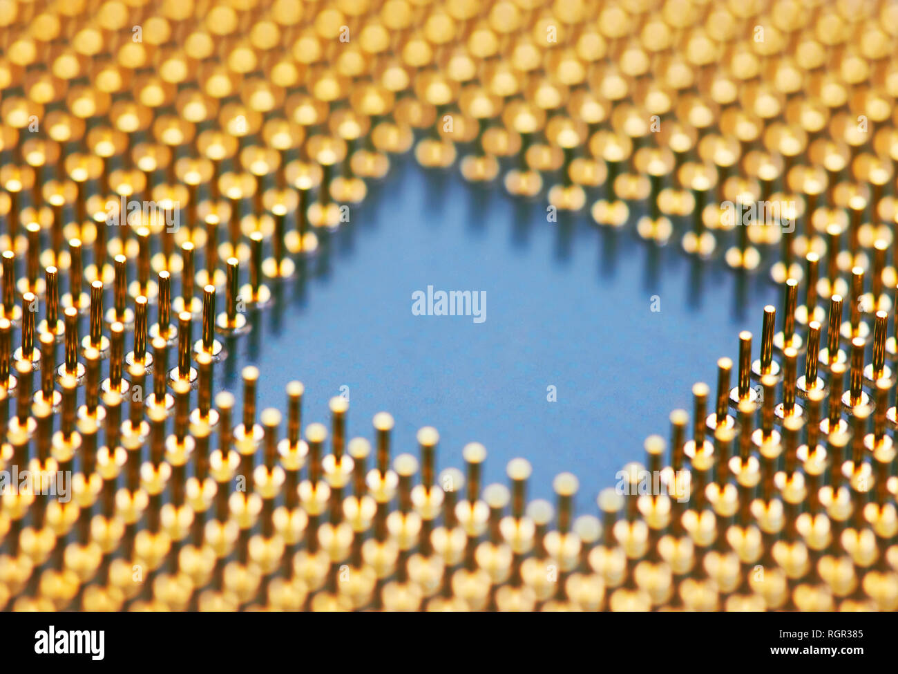 Computer processors CPU, closeup - Stock Image