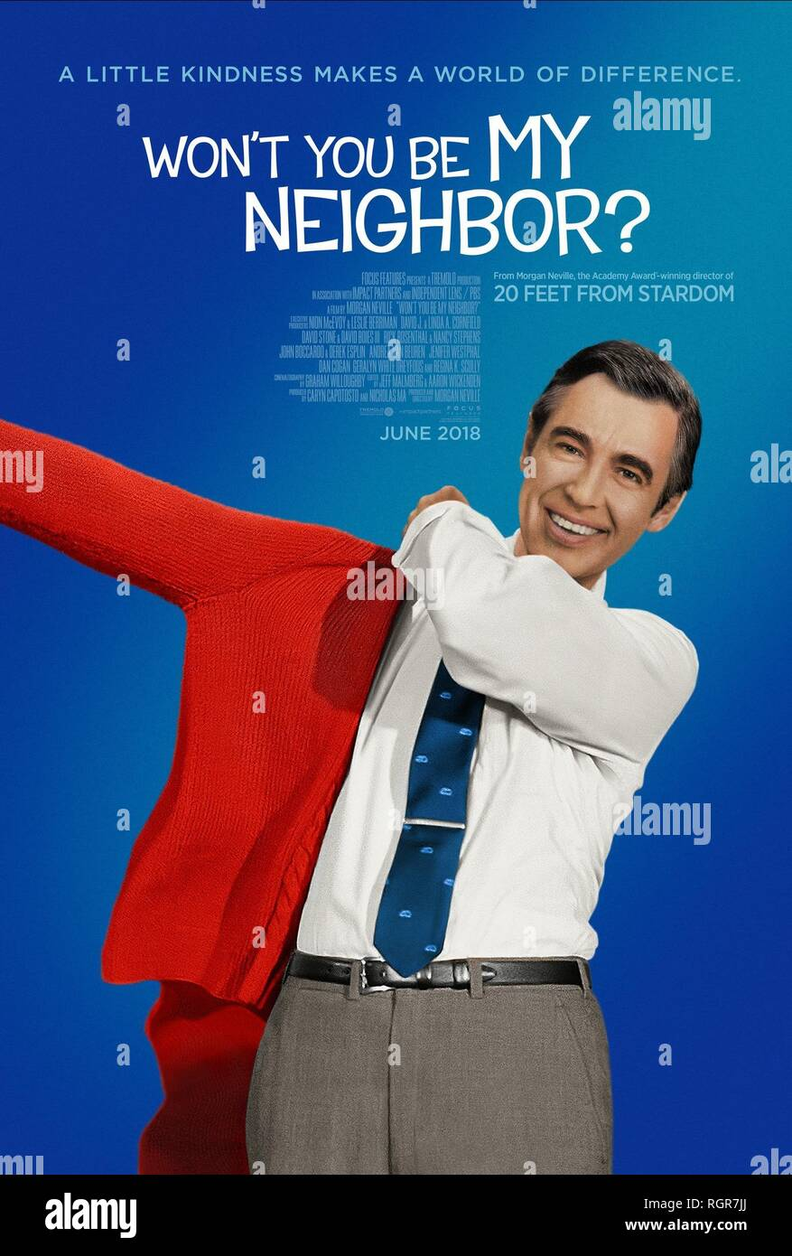 FRED ROGERS POSTER WON'T YOU BE MY NEIGHBOR? (2018) - Stock Image
