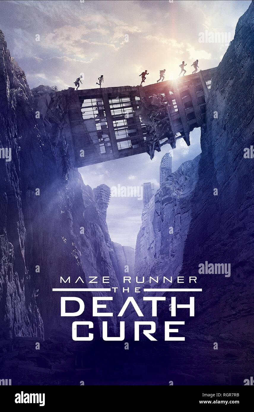 Movie Poster Maze Runner The Death Cure 2018 Stock Photo Alamy