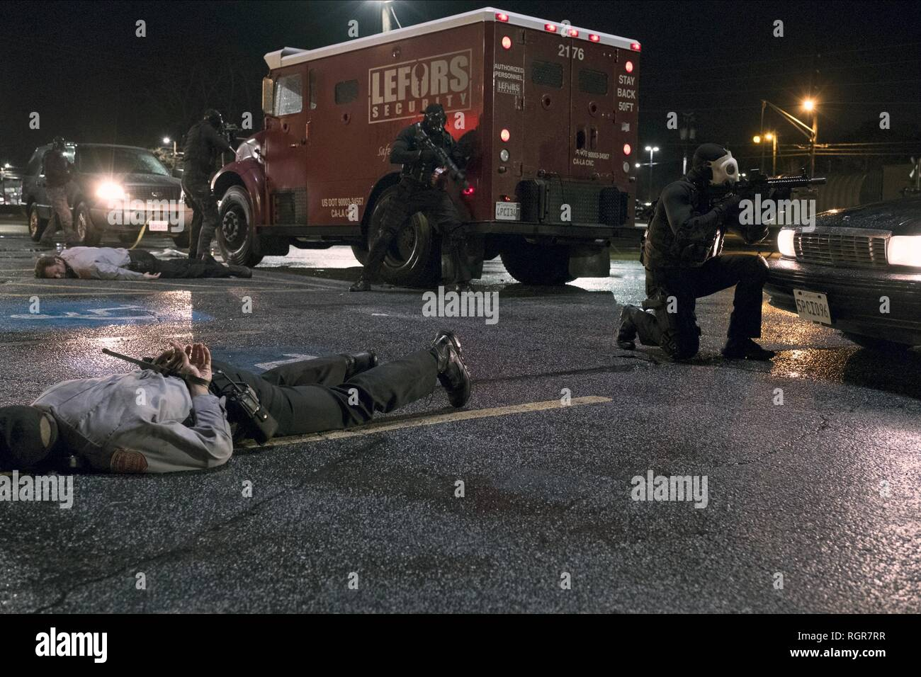 ARMED ROBBERY SCENE DEN OF THIEVES (2018) - Stock Image
