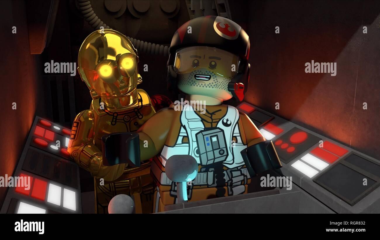 C-3PO & HAN SOLO KRYPTON (2018) - Stock Image