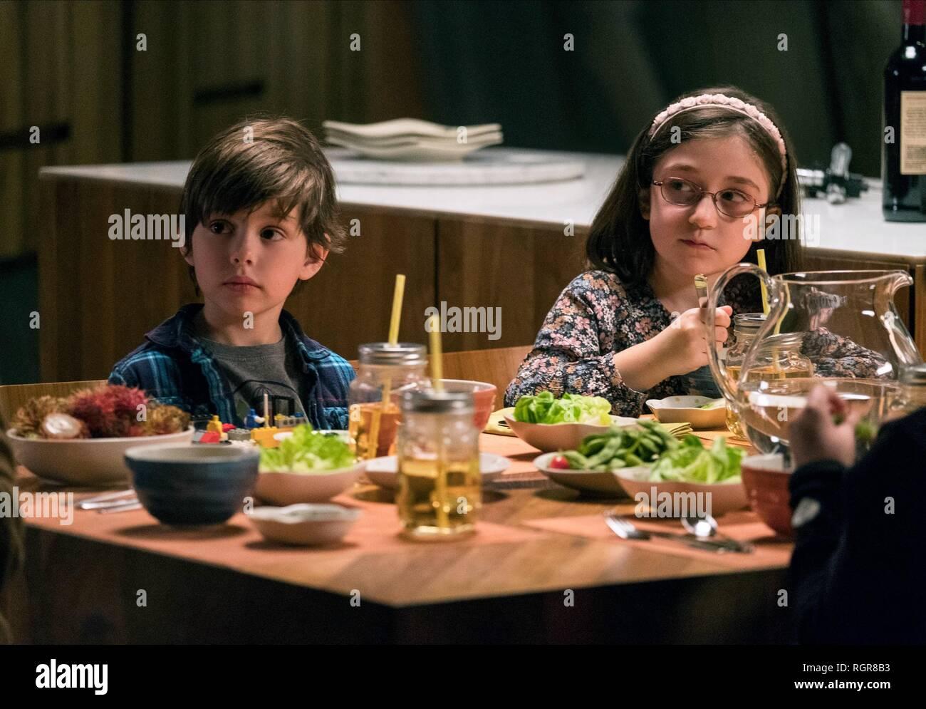 ASHER MILES FALLICA & LIA FRANKLAND TULLY (2018) - Stock Image