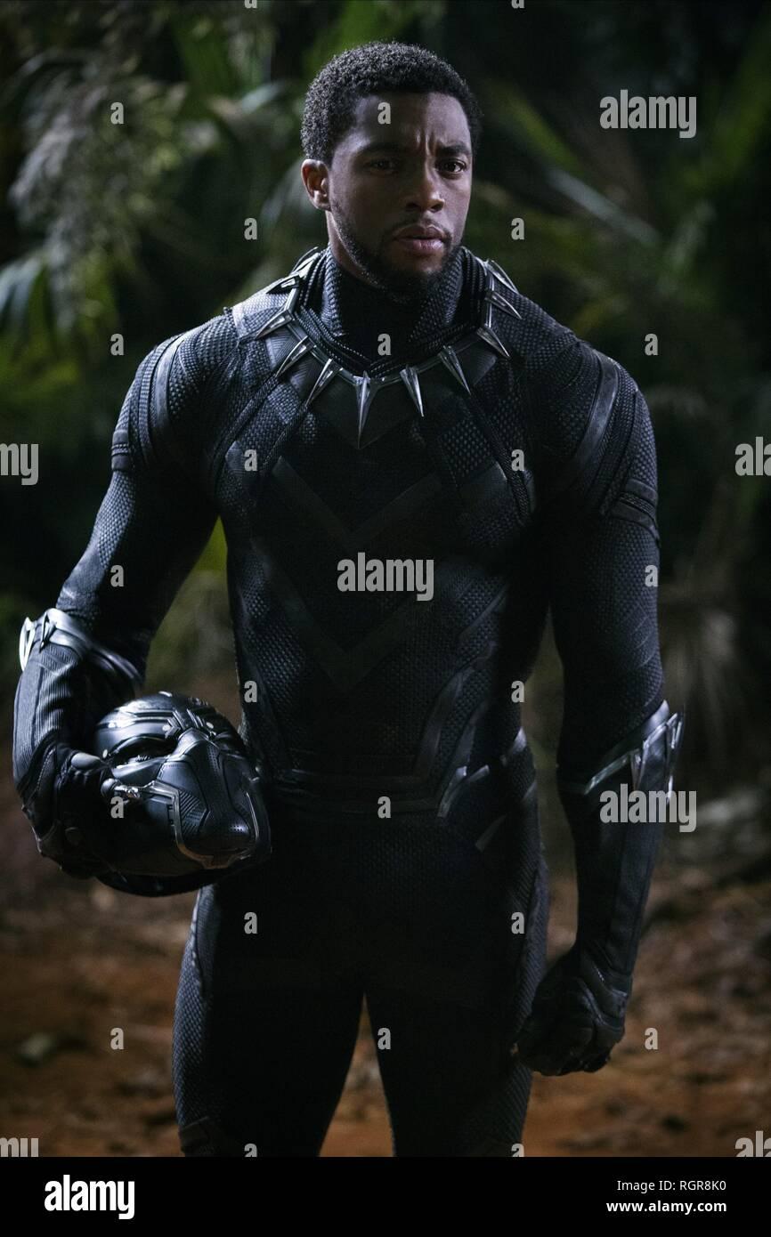 CHADWICK BOSEMAN BLACK PANTHER (2018) - Stock Image