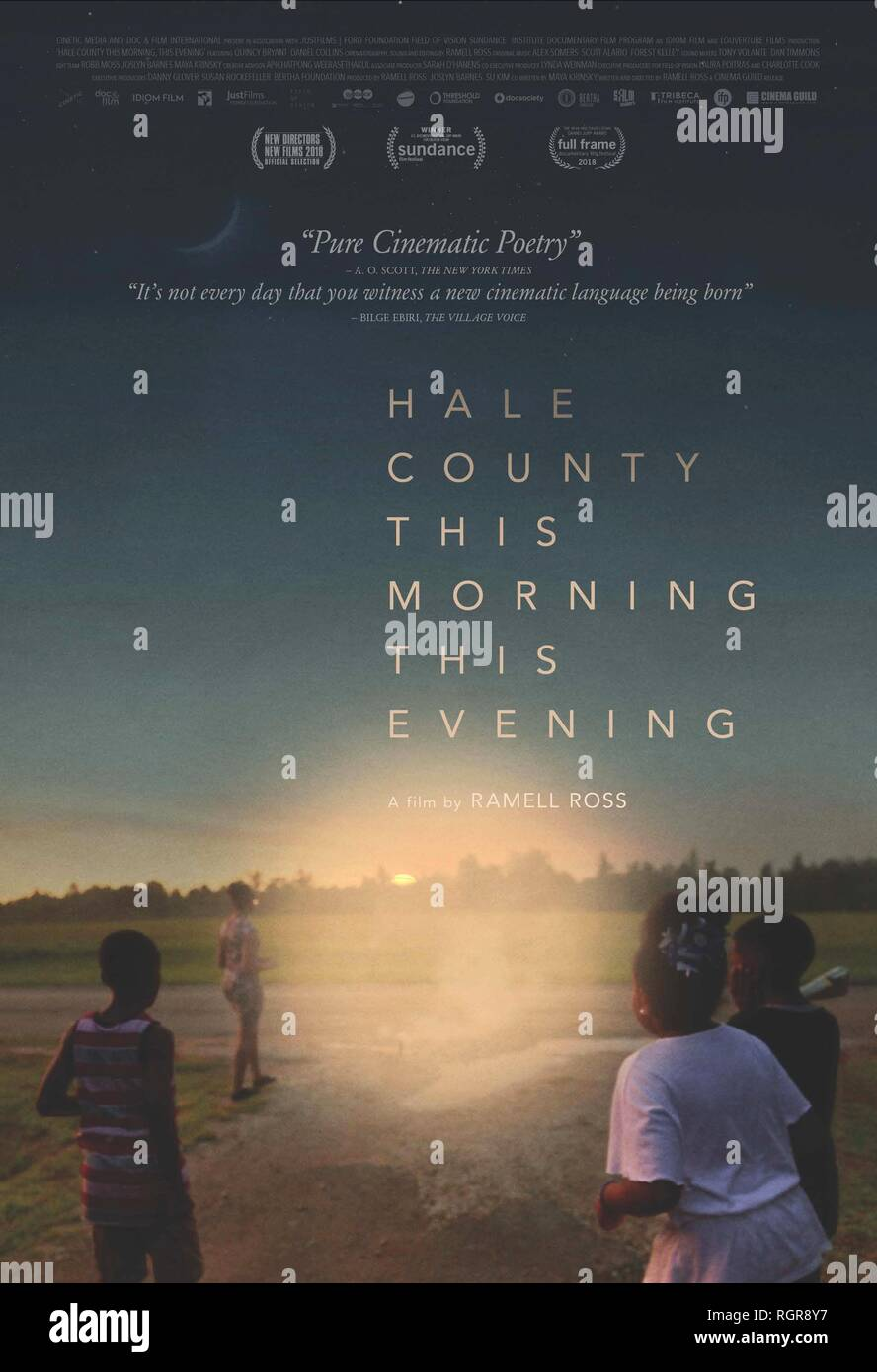 MOVIE POSTER HALE COUNTY THIS MORNING THIS EVENING (2018