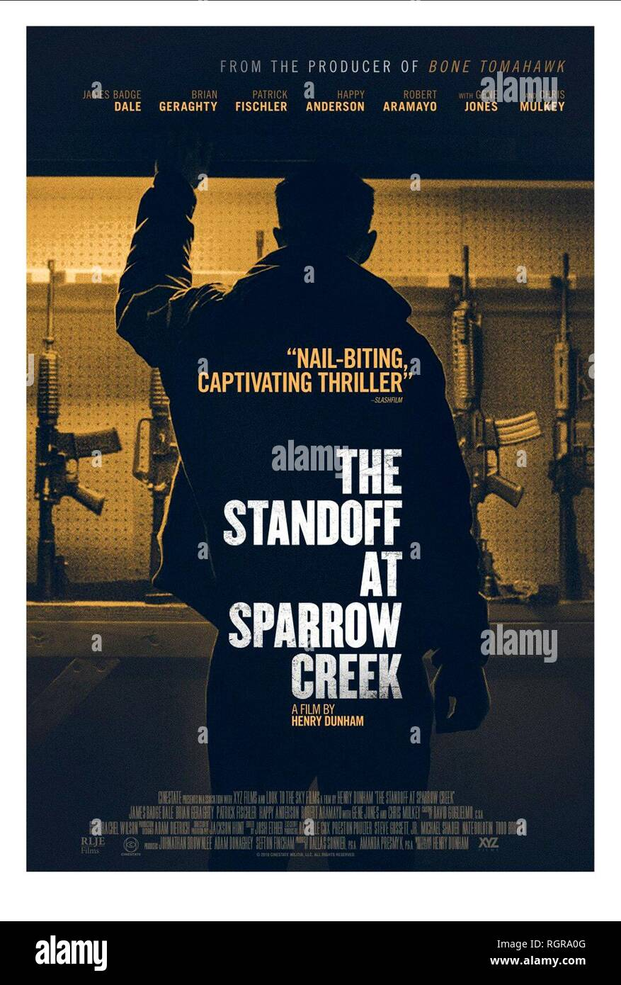 MOVIE POSTER THE STANDOFF AT SPARROW CREEK (2018) - Stock Image