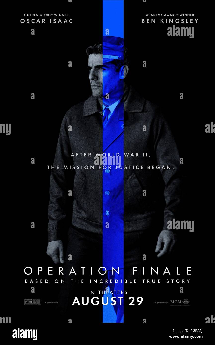 OSCAR ISAAC POSTER OPERATION FINALE (2018) - Stock Image