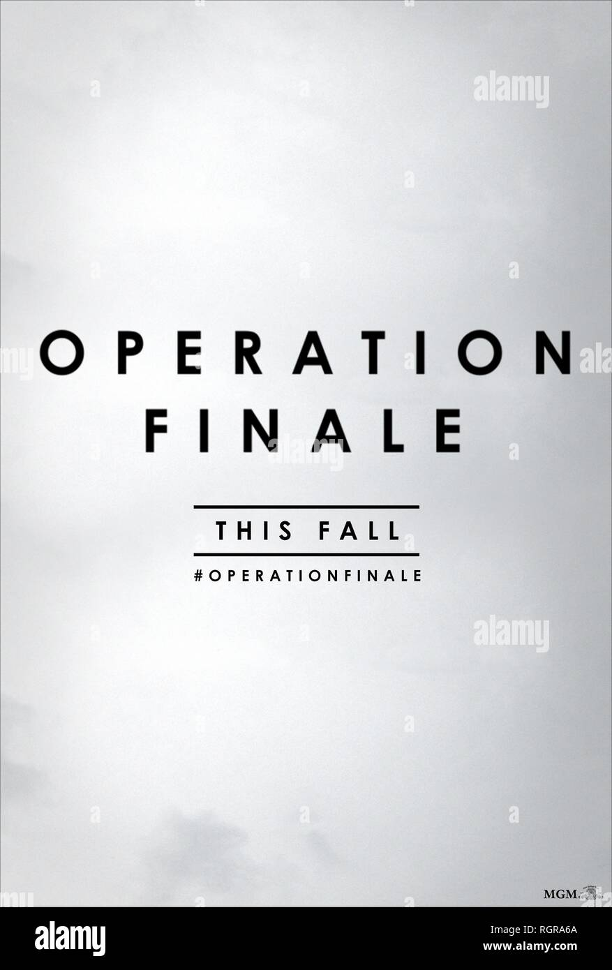 MOVIE POSTER OPERATION FINALE (2018) - Stock Image