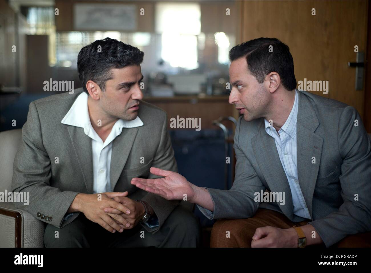 OSCAR ISAAC & NICK KROLL OPERATION FINALE (2018) - Stock Image