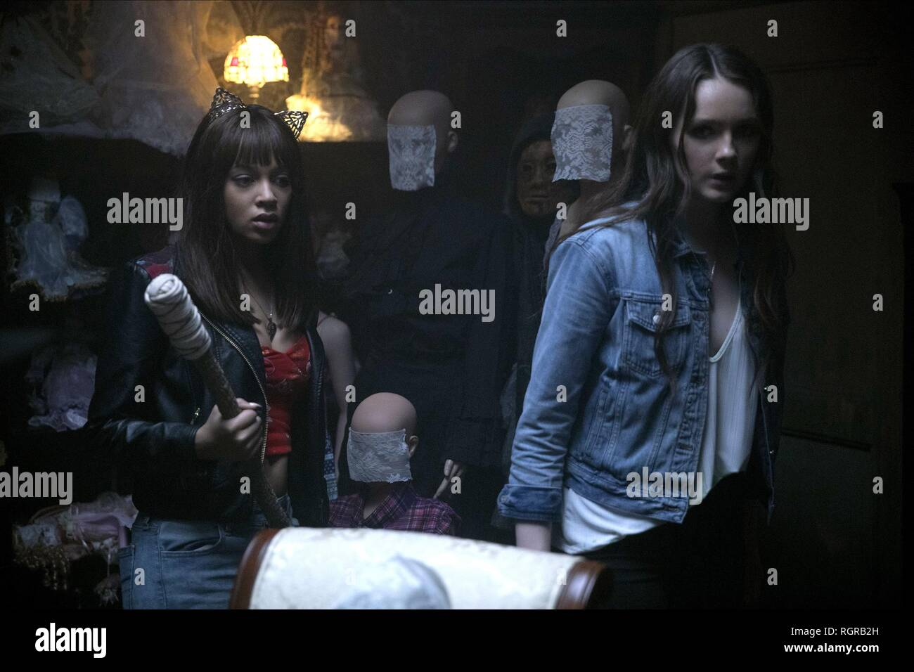 REIGN EDWARDS & AMY FORSYTH HELL FEST (2018) - Stock Image