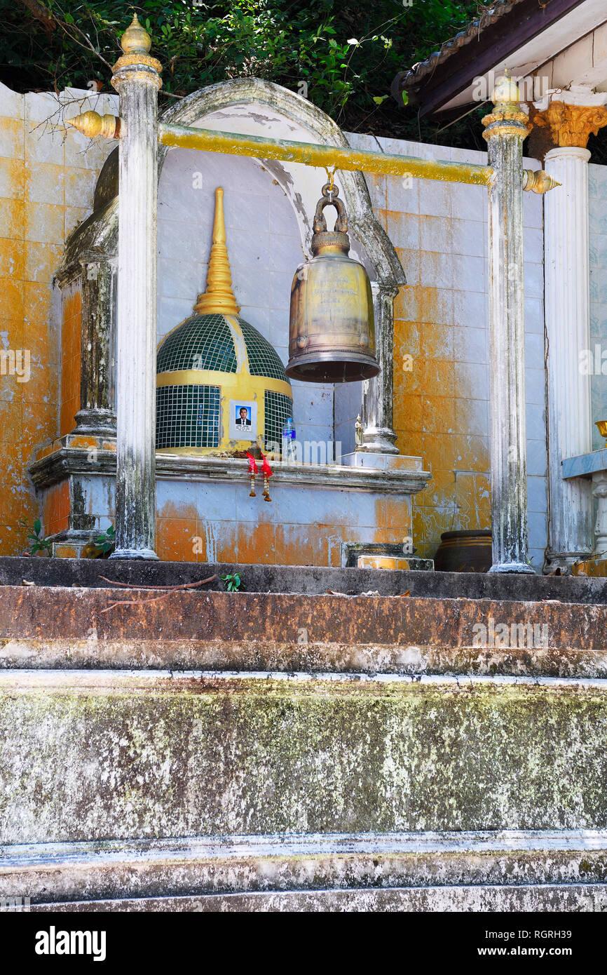 Grabstelle, Wat Srisoonthron Tempel, Koh Siray, Thailand - Stock Image
