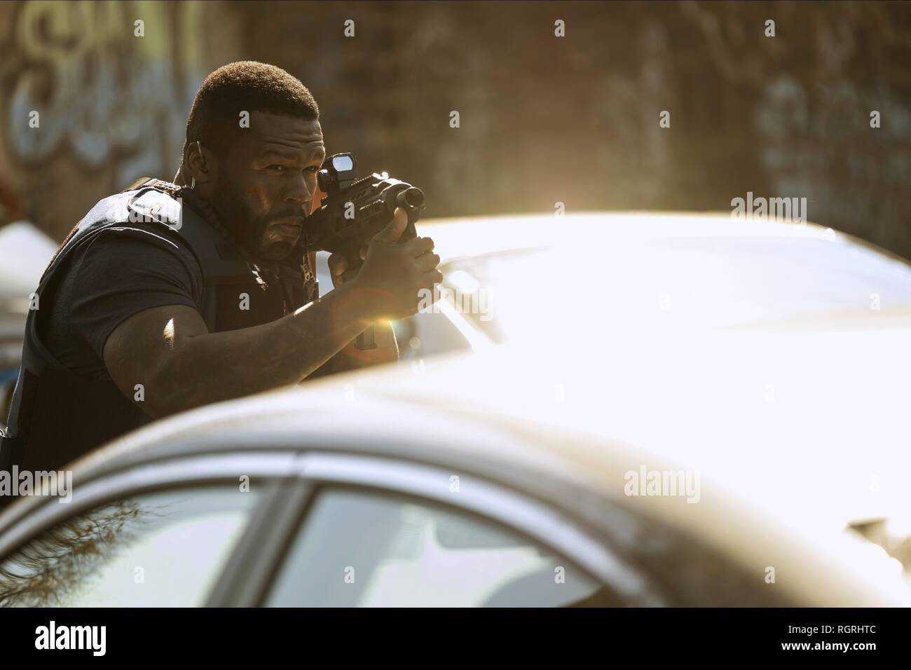 50 CENT DEN OF THIEVES (2018) - Stock Image