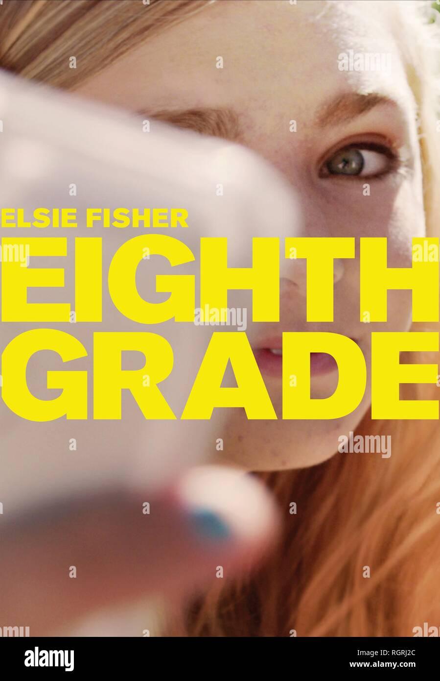MOVIE POSTER EIGHTH GRADE (2018) - Stock Image