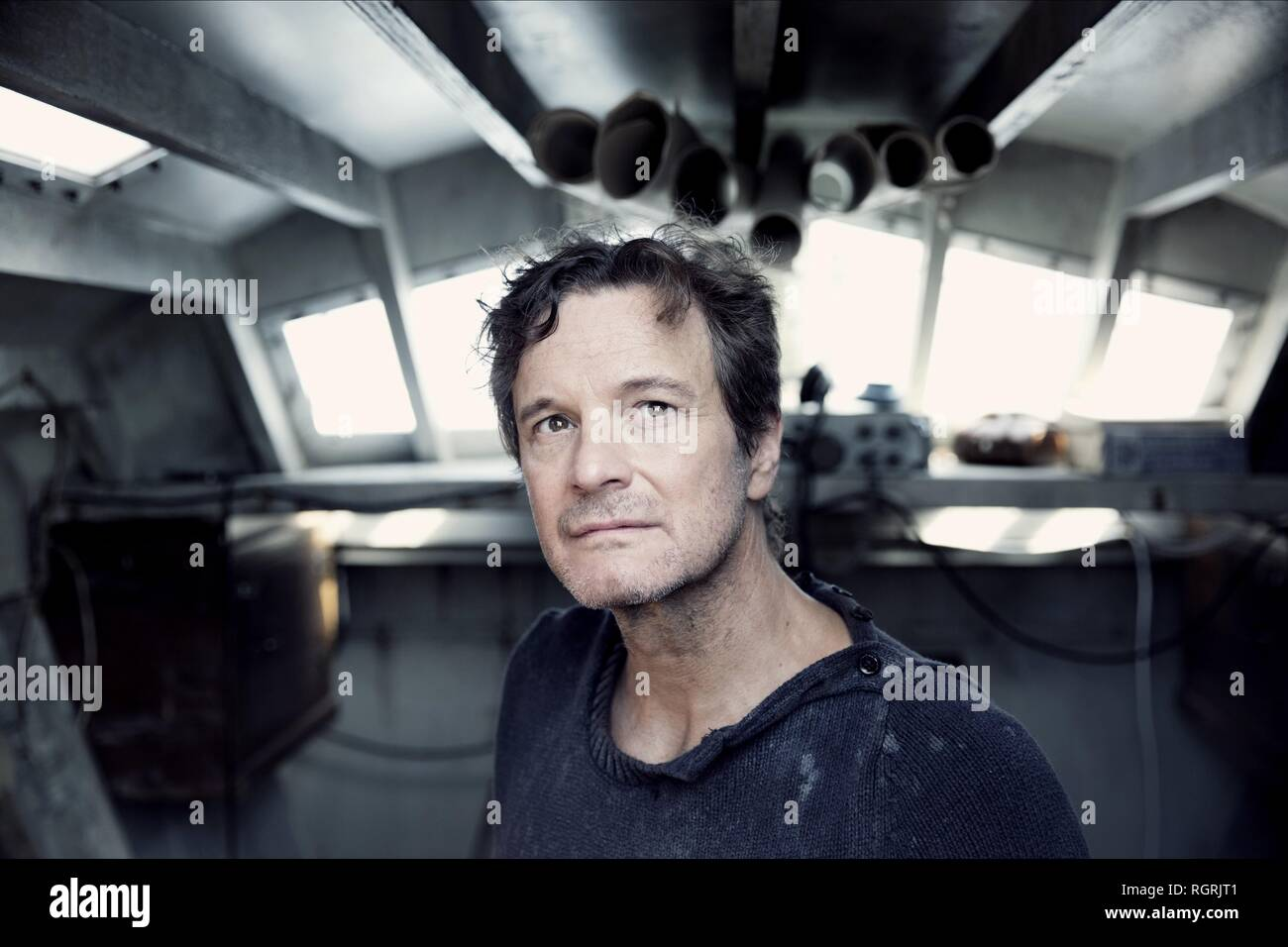 COLIN FIRTH THE MERCY (2018) - Stock Image