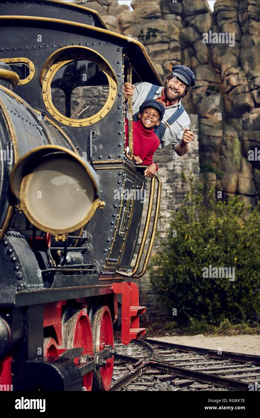 SOLOMON GORDON & HENNING BAUM JIM BUTTON AND LUKE THE ENGINE DRIVER (2018) - Stock Image