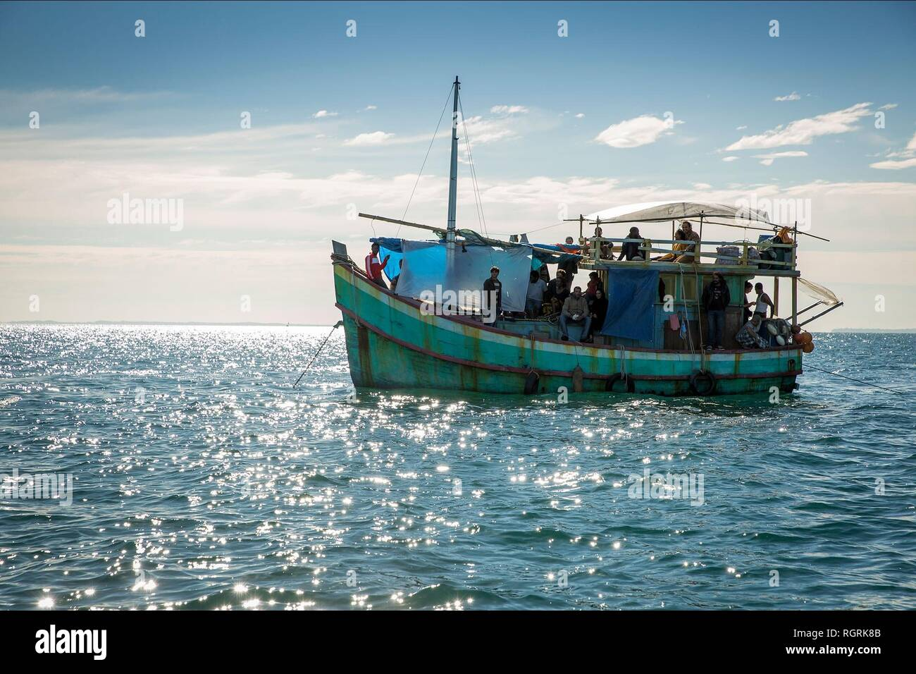 REFUGEE ASYLUM SEEKERS SAFE HARBOUR (2018) - Stock Image