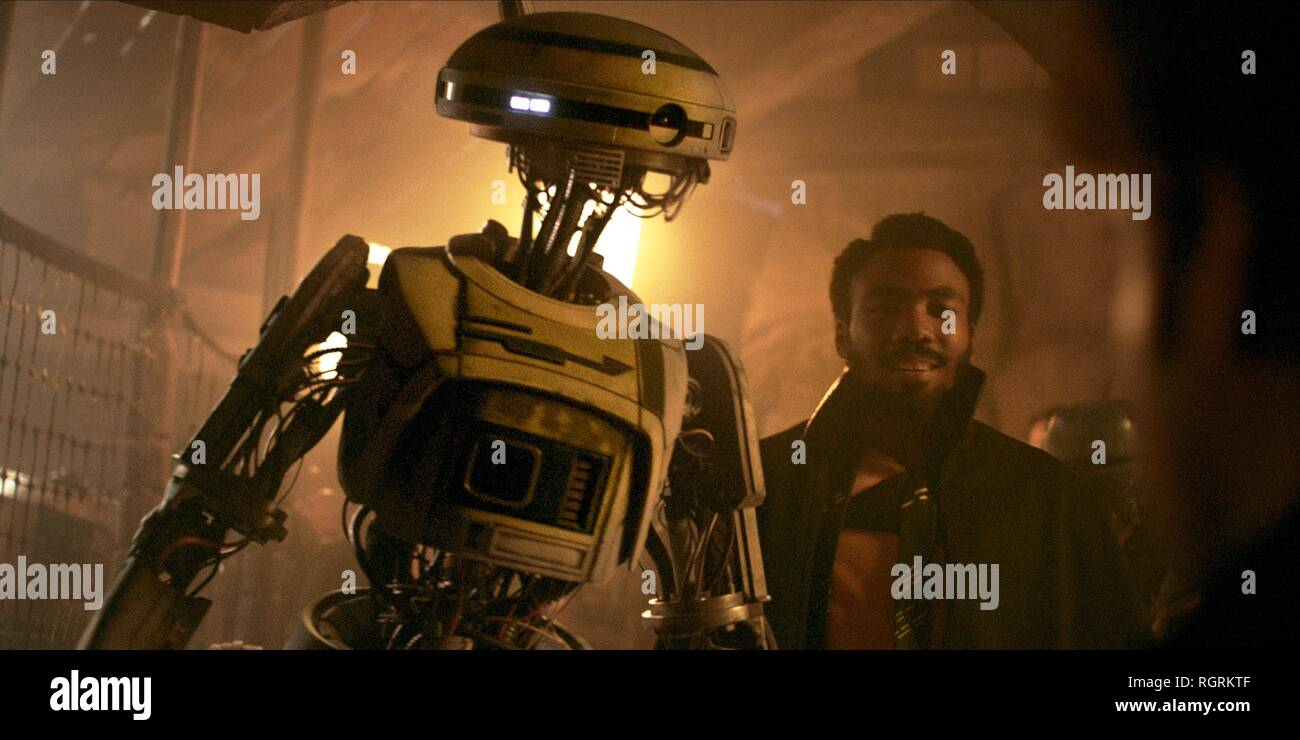 L3-37 & DONALD GLOVER SOLO: A STAR WARS STORY (2018) - Stock Image