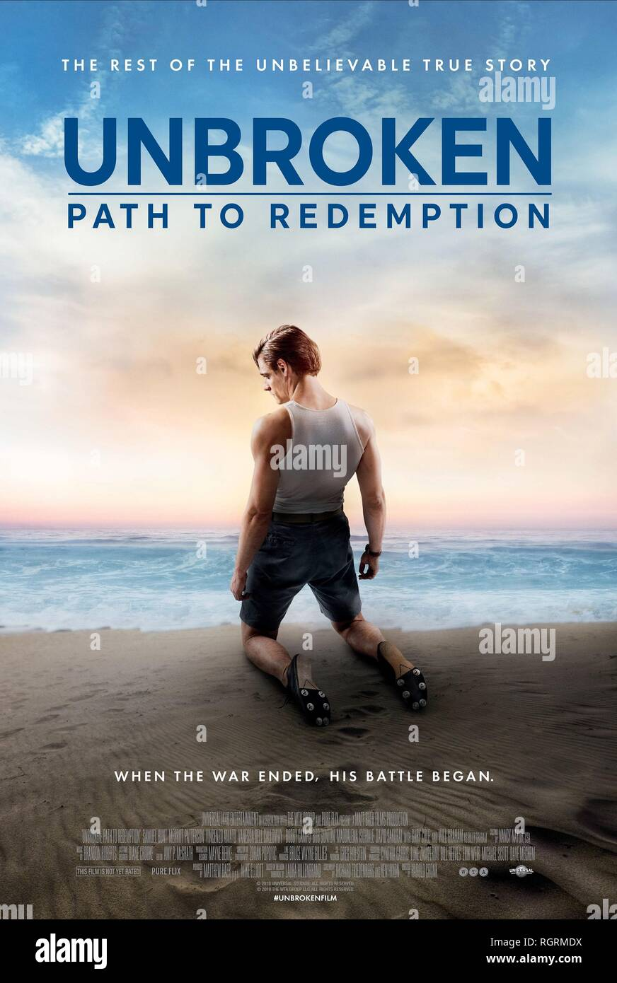 MOVIE POSTER UNBROKEN: PATH TO REDEMPTION (2018) - Stock Image