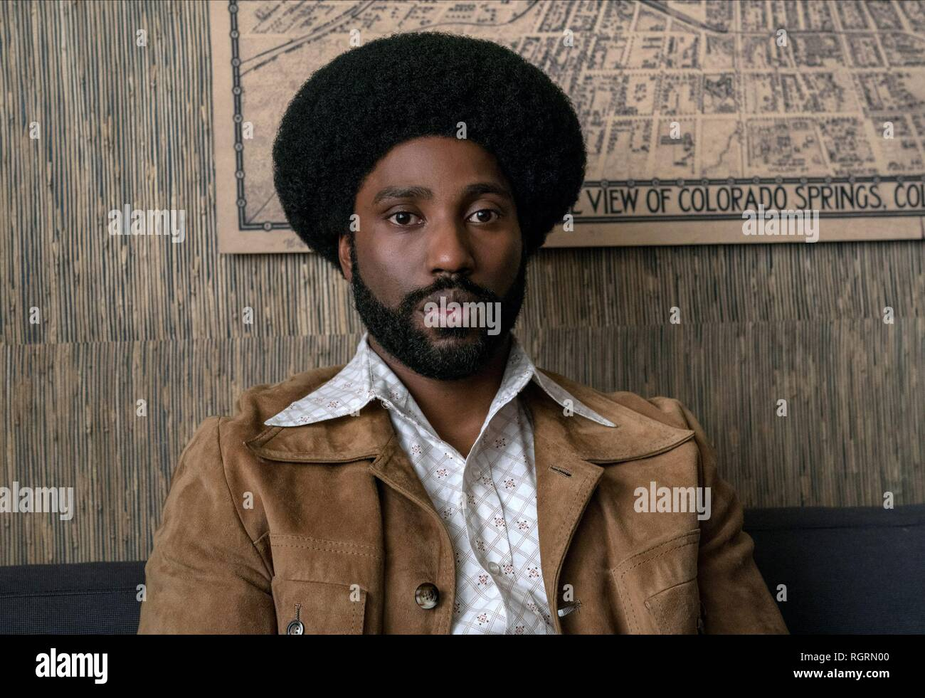 John David Washington Film: Blackkklansman (USA 2018)  Character(s): Ron Stallworth  / Literaturverfilmung (Based On The Autobiographical Book By Ron Stallworth) Director: Spike Lee 14 May 2018  SAW90771 Allstar Picture Library/BLUMHOUSE PRODUCTIONS  **Warning**  This Photograph is for editorial use only and is the copyright of BLUMHOUSE PRODUCTIONS  and/or the Photographer assigned by the Film or Production Company & can only be reproduced by publications in conjunction with the promotion of the above Film. A Mandatory Credit To BLUMHOUSE PRODUCTIONS is required. The Photographer should also  Stock Photo