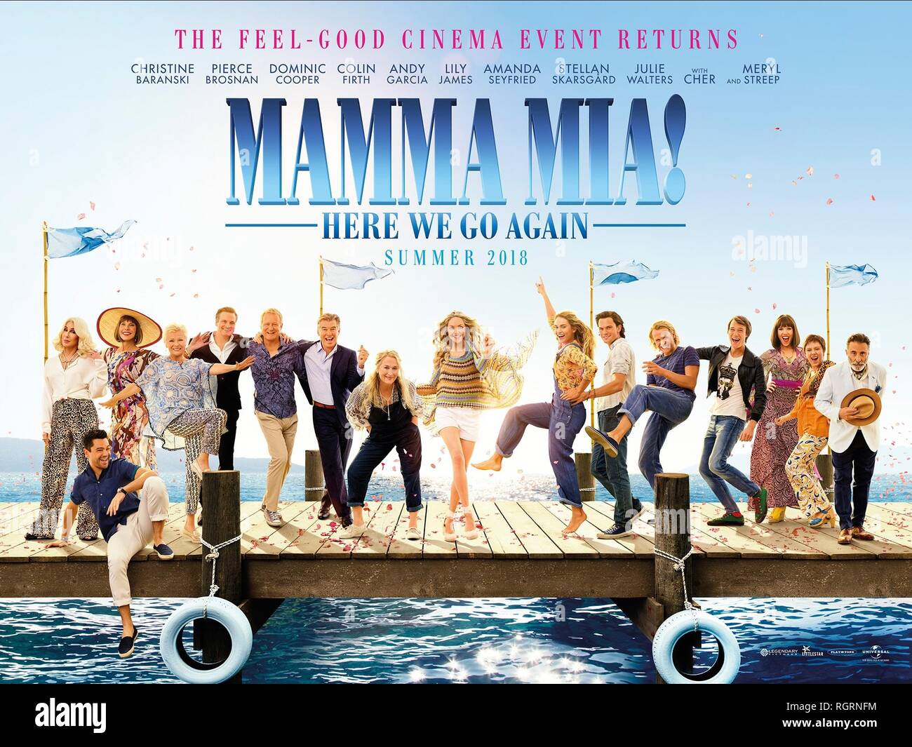 Movie Poster Mamma Mia Here We Go Again 2018 Stock Photo Alamy