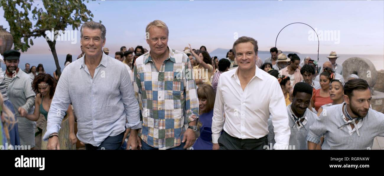 Pierce Brosnan Stellan Skarsgard Colin Firth Mamma Mia Here We Go Again 2018 Stock Photo Alamy