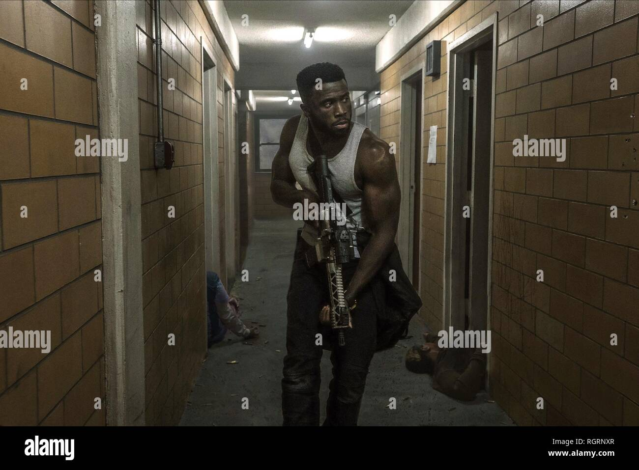 Y'LAN NOEL THE FIRST PURGE (2018) - Stock Image