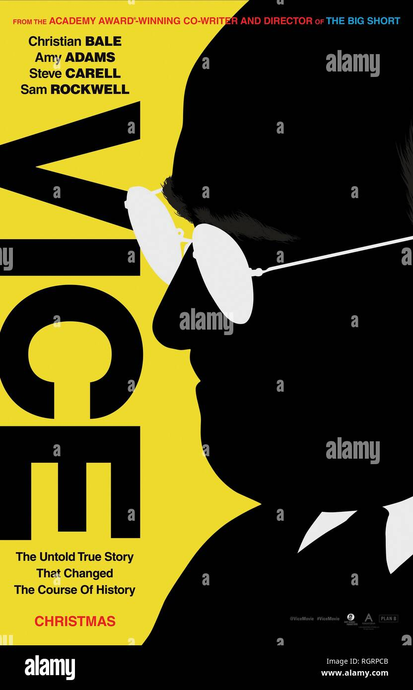 VICE, MOVIE POSTER, 2018 - Stock Image
