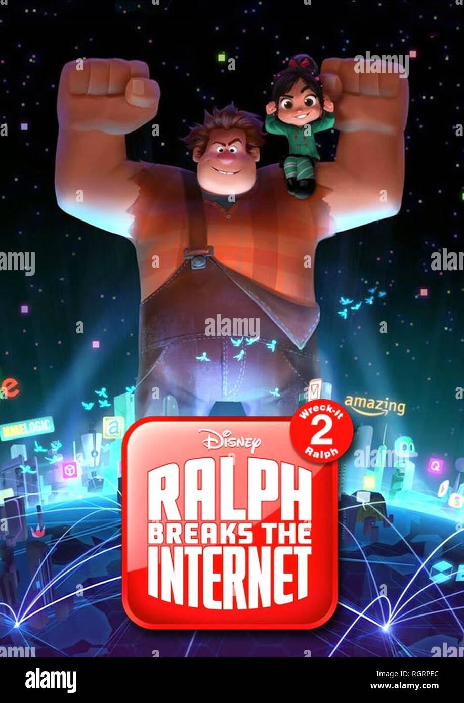 Ralph Vanellope Poster Ralph Breaks The Internet 2018 Stock Photo Alamy