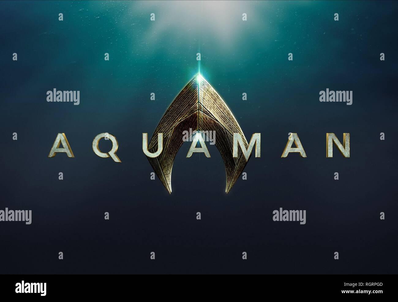 AQUAMAN, MOVIE POSTER, 2018 - Stock Image