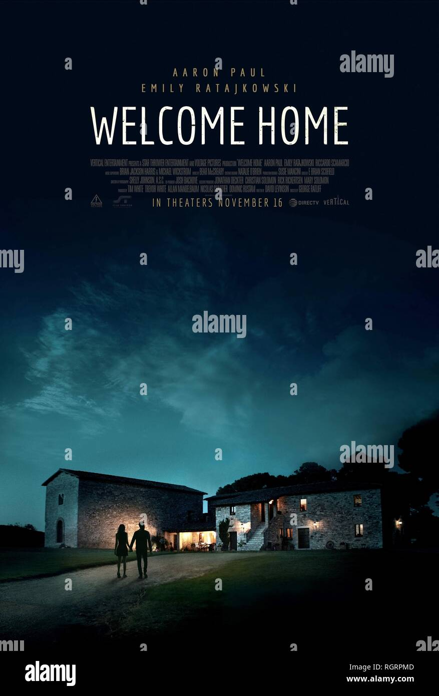 WELCOME HOME, MOVIE POSTER, 2018 - Stock Image