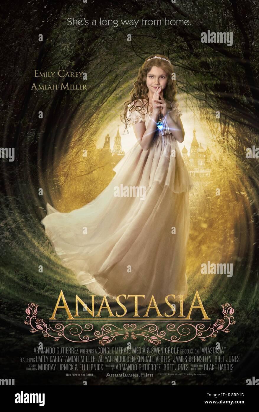 ANASTASIA, EMILY CAREY POSTER, 2018 - Stock Image