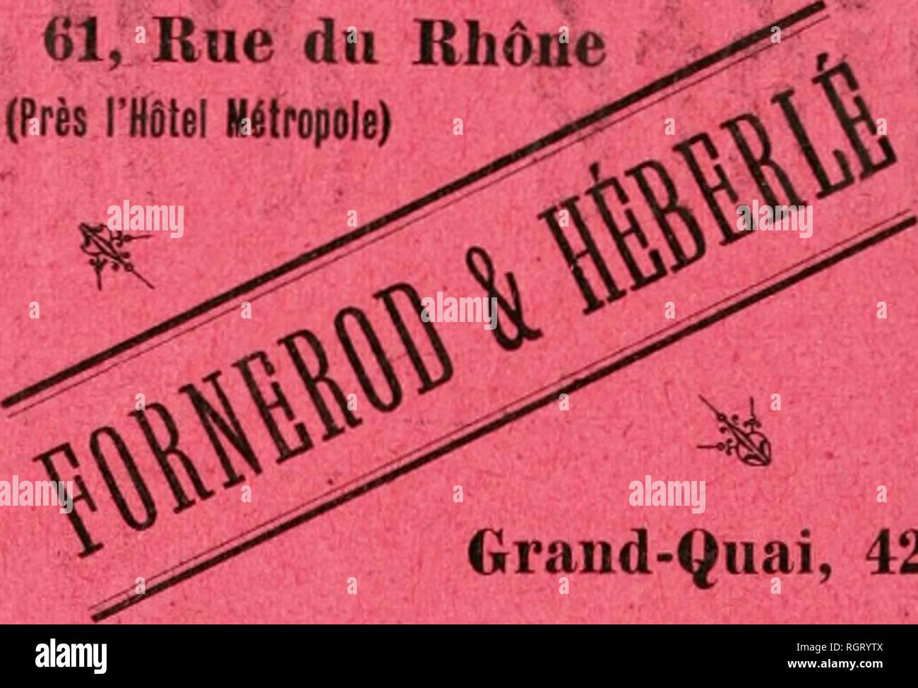 """. Bulletin de la Socit d'horticulture de Genve. Socit d'horticulture de Genve; Horticulture -- Switzerland. TUYAUX DE CAOUTCHOUC TUYAUX EN TOILE / / U:/: i / N 61, Rue du Rhône (Près l'Hôtel Métropole) ! .i WI. Oraud-Quai, 42 Téléphone 1838 ASSOKTIMt]iT COMPLET OE Tuyaux d'Arnisayii JETS â LANCES IIACCORDS de toutes dimensions   ENROULEURS ARROSEURS ET JETS D'EAU AUTOMATIQUES TUYAUX D'ENCAVAGES Qualité spéciale garantie exexnpte de plomb. Tuyaux d'aspiration SPÃCIALITà I>E TUYAUX AMÃRICAINS """"ARMÃS â pour Réchauds, Lampes et Fourneaux à Gaz PRATIQUES â DURABLES Offrant une en - Stock Image"""