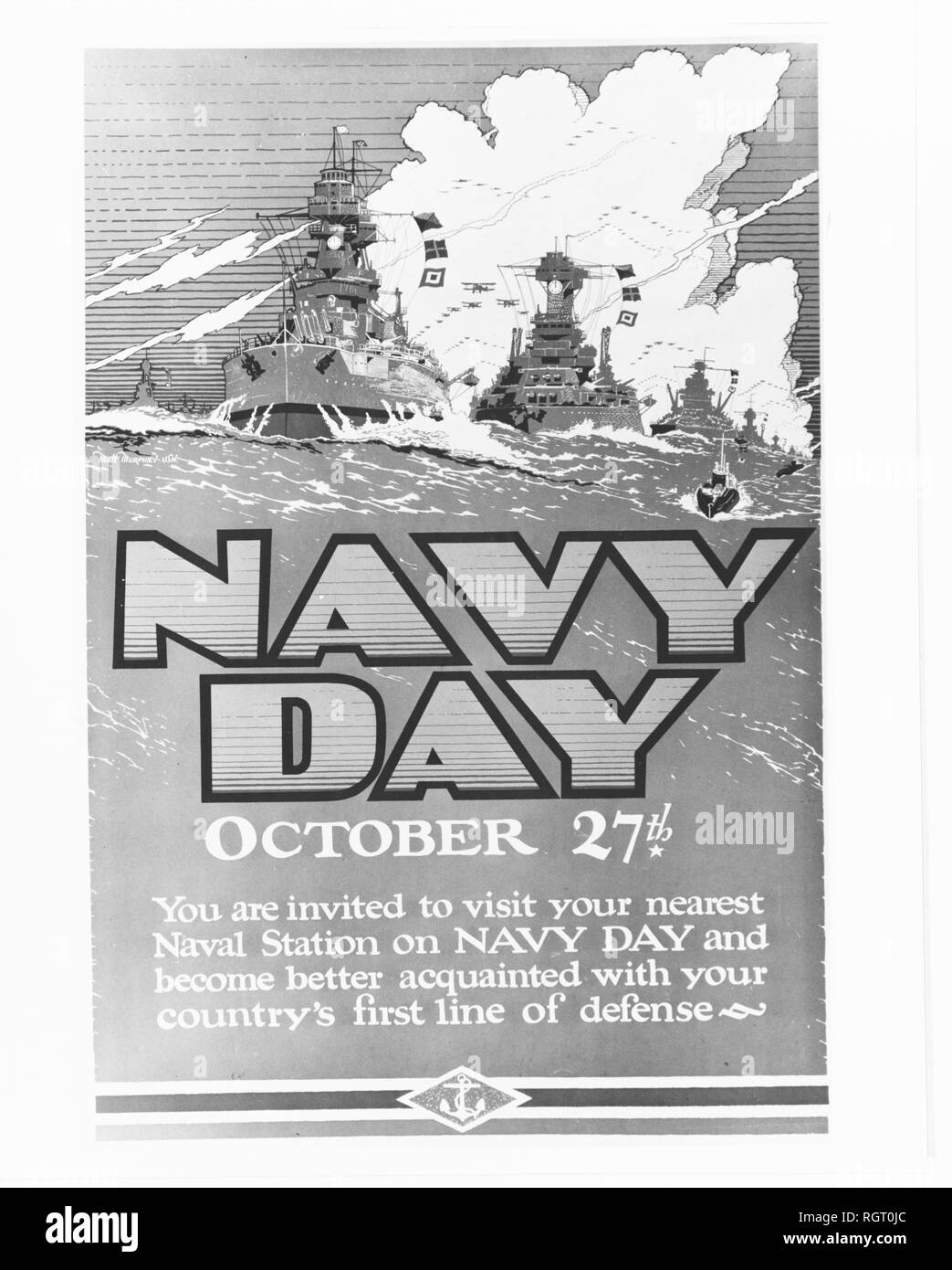 Navy Day poster 1939.jpg - RGT0JC 1RGT0JC - Stock Image