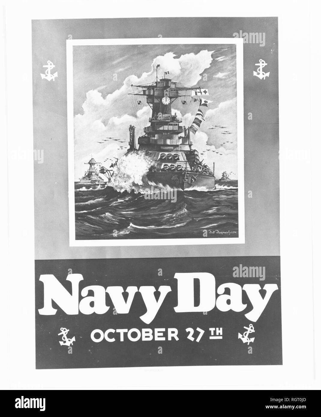 Navy Day poster 1940.jpg - RGT0JD 1RGT0JD - Stock Image