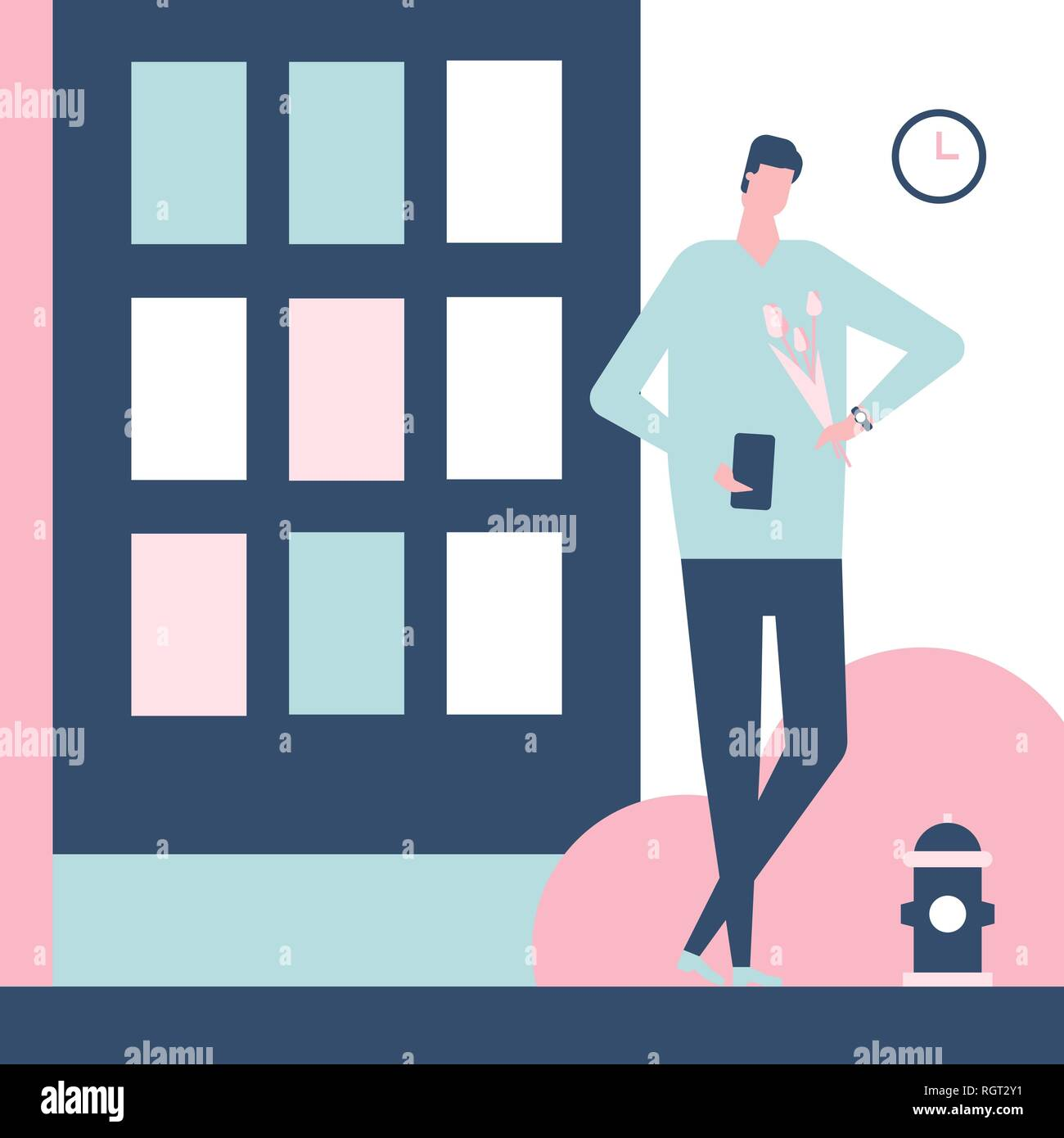 Dating app - flat design style colorful illustration Stock Vector