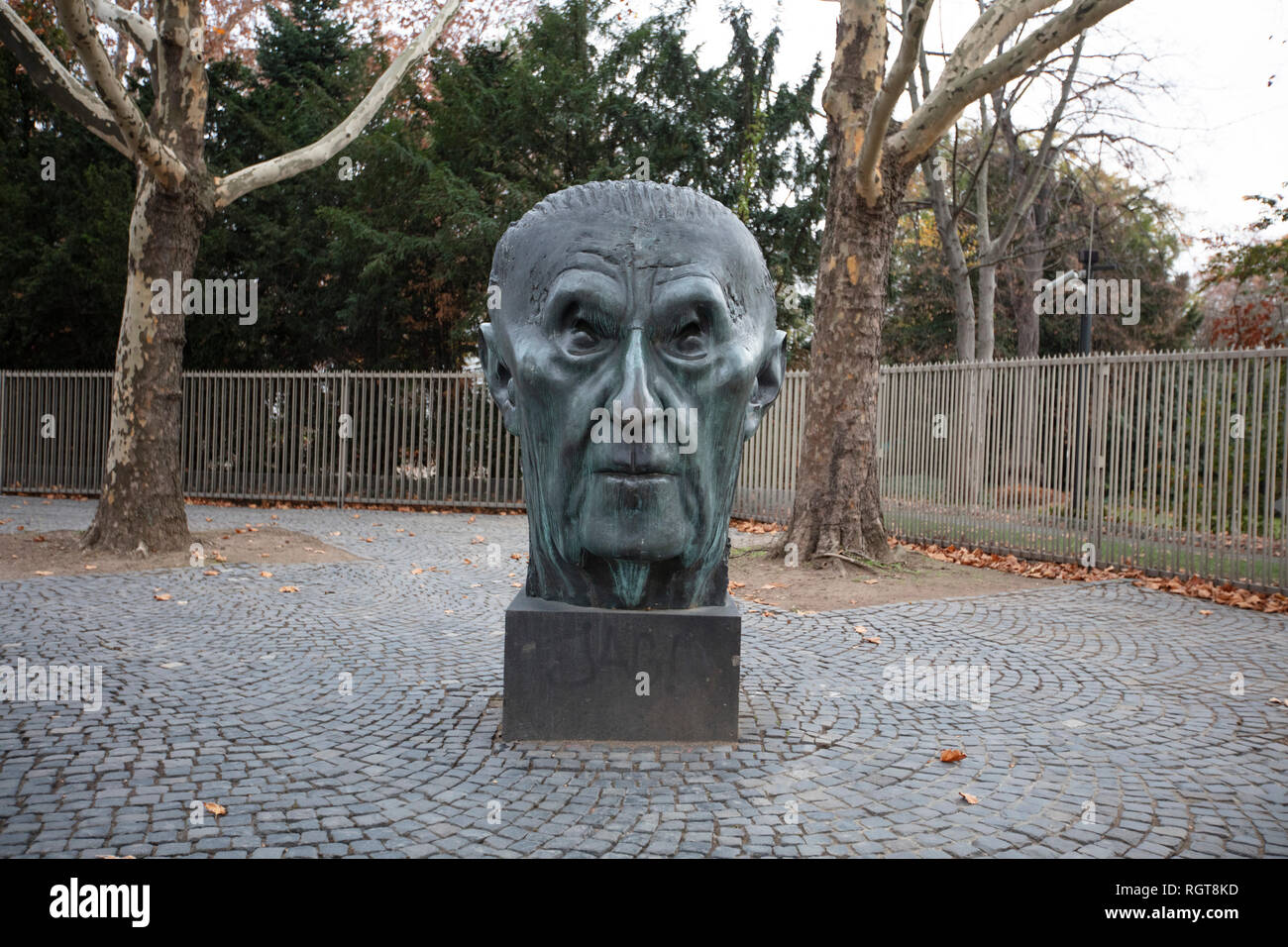 Statue Konrad Adenauer - Stock Image