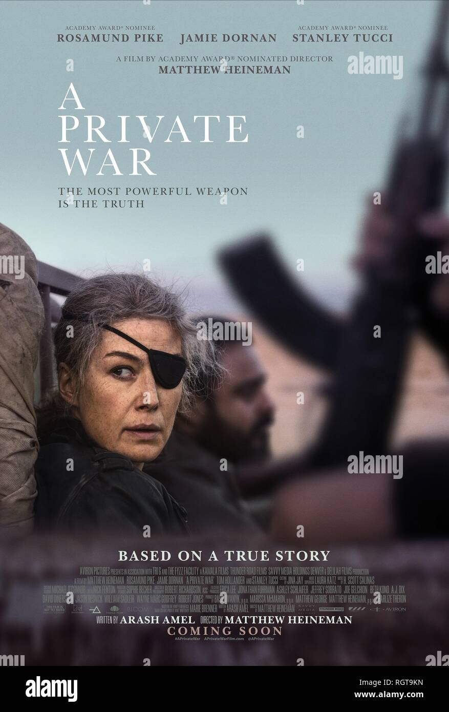 A PRIVATE WAR, ROSAMUND PIKE POSTER, 2018 - Stock Image