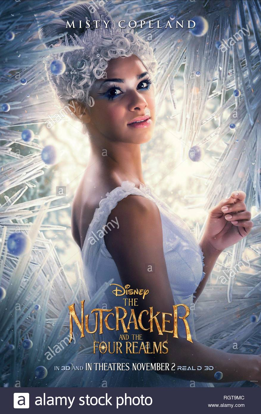 THE NUTCRACKER AND THE FOUR REALMS, MISTY COPELAND POSTER, 2018 - Stock Image