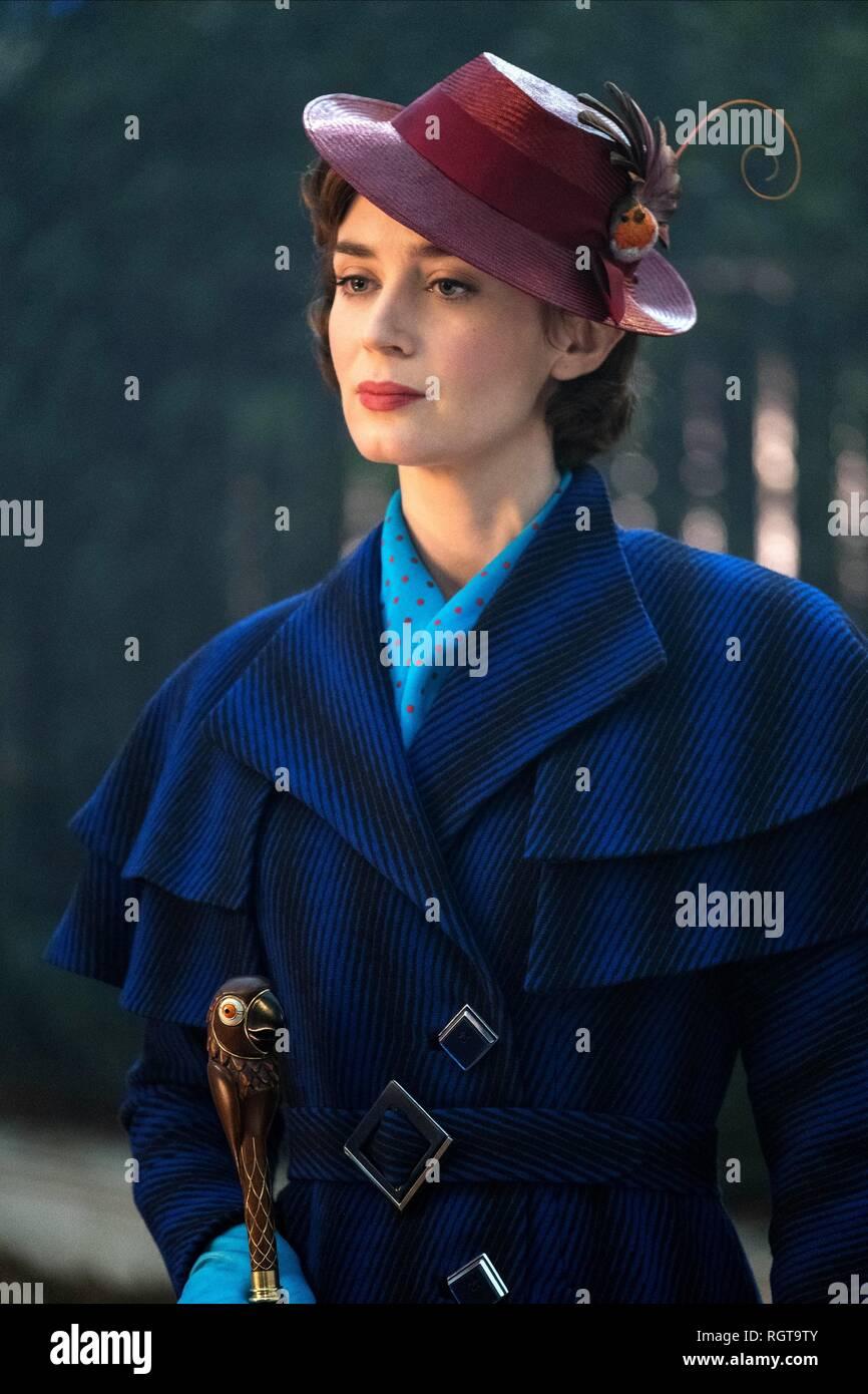Emily Blunt Mary Poppins Returns 2018 Stock Photo Alamy