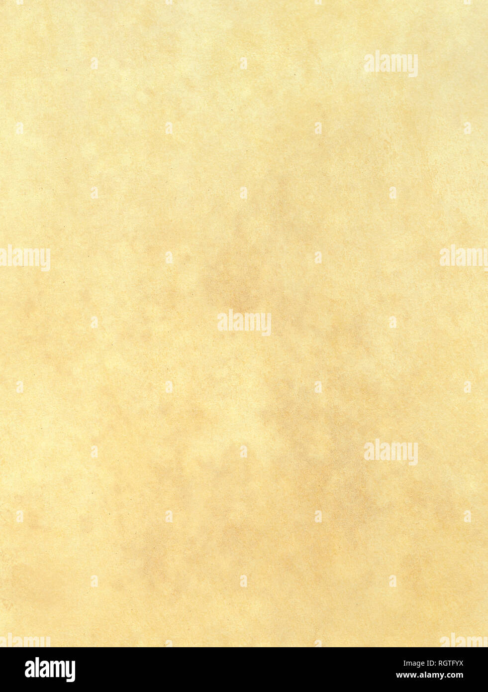 Old paper textured background. Blank piece of ancient parchment. - Stock Image